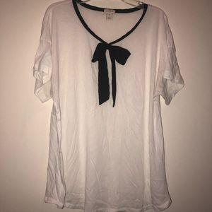 J Crew tie t-shirt